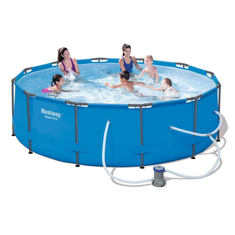 Bestway 12' Above Ground Swimming Pool w/ Filter Pump - Factory Direct Oz