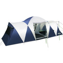 12 Person Canvas Dome Camping Tent - Navy & Grey - Factory Direct Oz