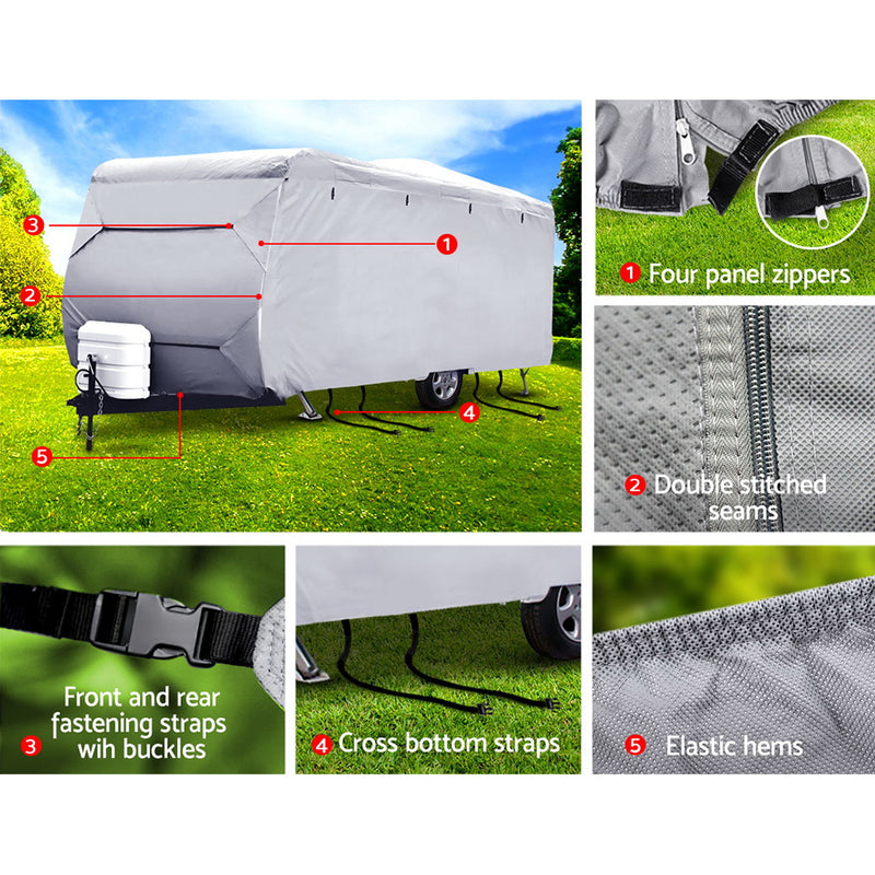 22-24ft Caravan/Campervan 4 Layer UV Waterproof Cover - Factory Direct Oz