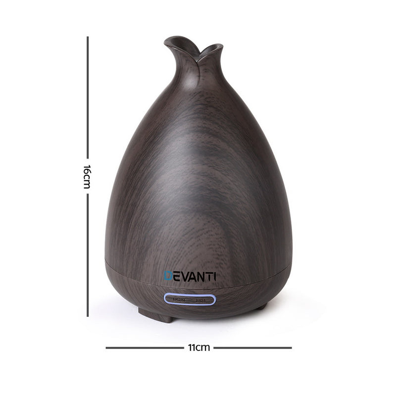 DEVANTI Aroma Diffuser - Dark Wood Grain - Factory Direct Oz