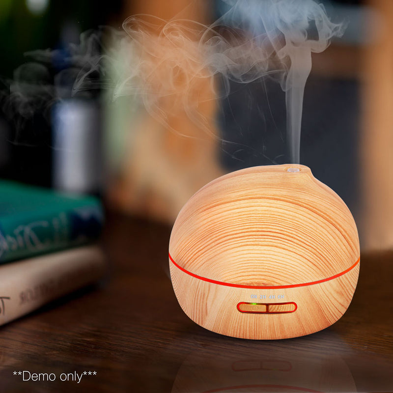 4 in 1 Ultrasonic Aroma Diffuser 300ml - Light Wood - Factory Direct Oz