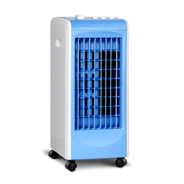 Devanti Portable Air Cooler and Humidifier - White & Blue - Factory Direct Oz