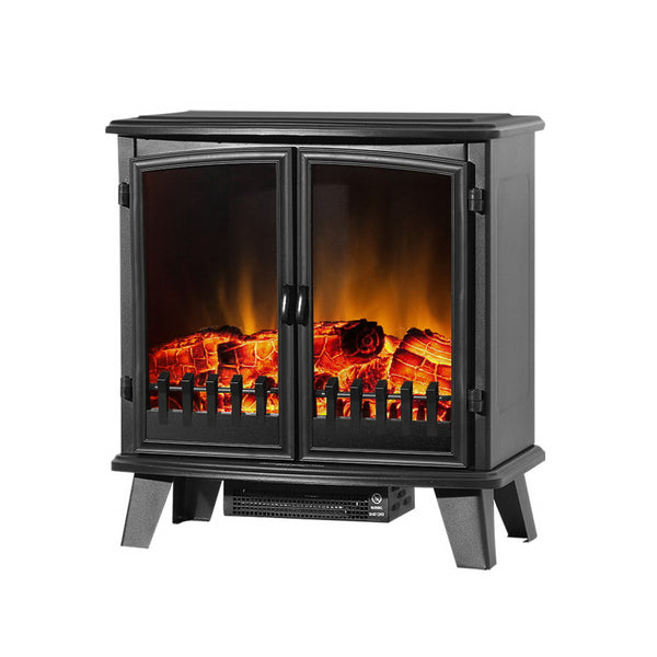 1800W Electric Fireplace Heater - Dual Door - Factory Direct Oz