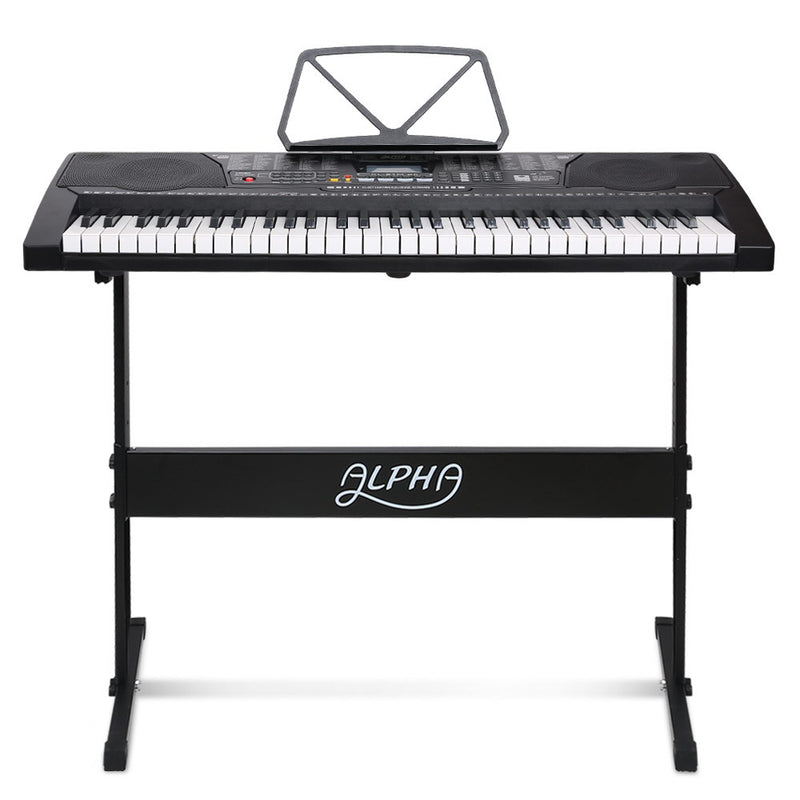 Alpha 61 Keys Lighted Electronic Keyboard - Factory Direct Oz