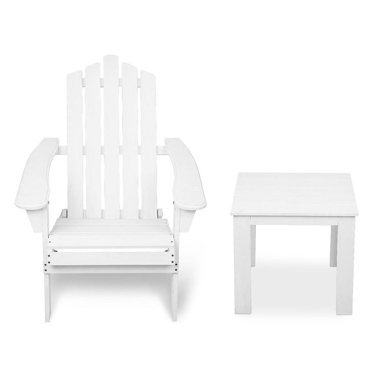 2 Piece Beach Chair and Table Set - Factory Direct Oz