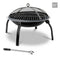 22 Inch Portable Foldable Outdoor Fire Pit Fireplace - Factory Direct Oz
