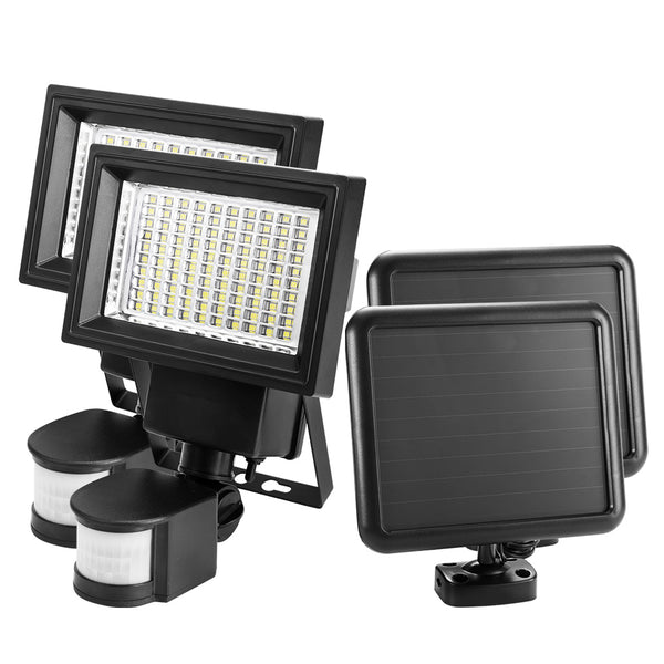 2x 100 LED Solar Sensor Lights - Factory Direct Oz