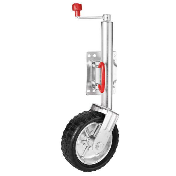 Jockey Wheel 10 Swing Up Solid Wheel 1000KG Caravan Boat Trailer Greasable""