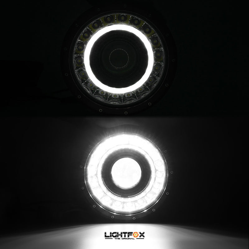 9 inch LED Driving Lights - Black - Factory Direct Oz