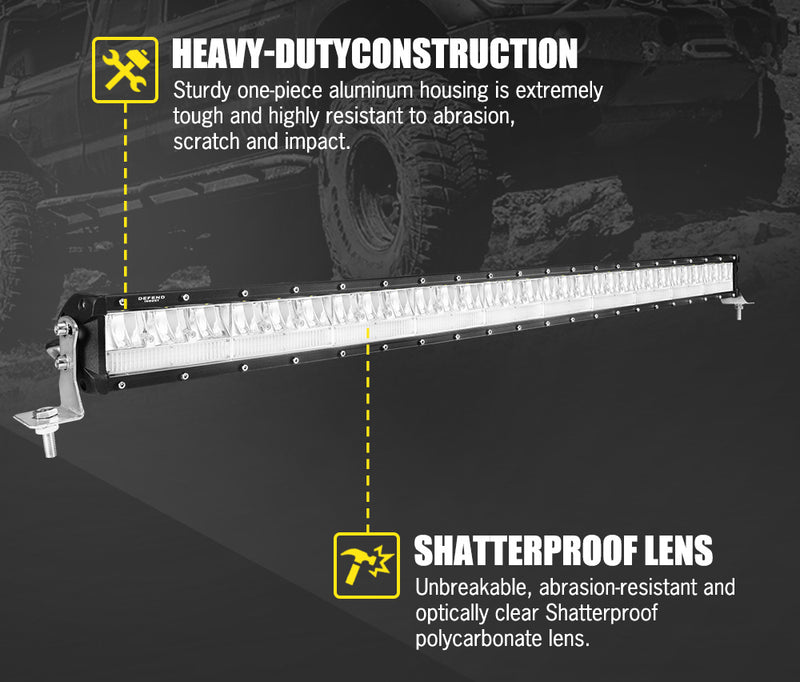 DEFEND 42inch LED Dual Row Light Bar - Factory Direct Oz