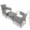 3 Piece Outdoor Wicker Chair & Side Table Set - Grey - Factory Direct Oz
