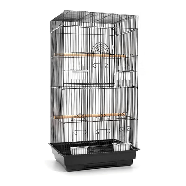 i.Pet Medium Bird Cage with Perch - Black - Factory Direct Oz