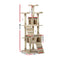 i.Pet 180cm Multi Level Cat Scratching Post - Beige - Factory Direct Oz