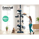 i.Pet 260cm Multi Level Cat Scratching Post - Blue - Factory Direct Oz