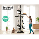 i.Pet 260cm Multi Level Cat Scratching Post - Grey - Factory Direct Oz