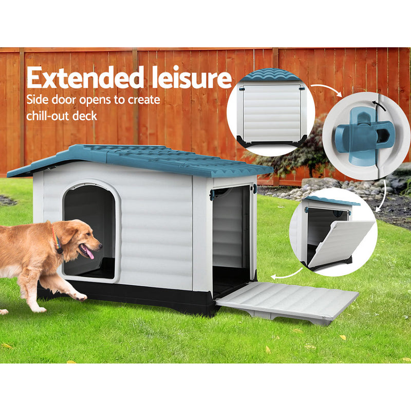 i.Pet Heavy Duty Dog Kennel - Blue - Factory Direct Oz