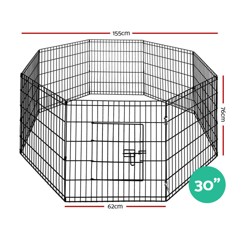 "i.Pet 30"" 8 Panel Dog Enclosure - Factory Direct Oz"