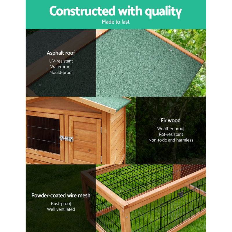 i.Pet 155cm Rabbit/Guinea Pig Hutch - Factory Direct Oz