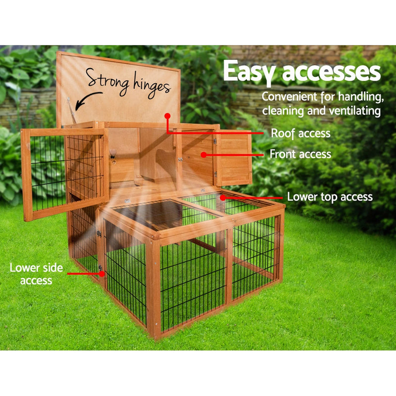 i.Pet 100cm Rabbit/Guinea Pig Hutch - Factory Direct Oz