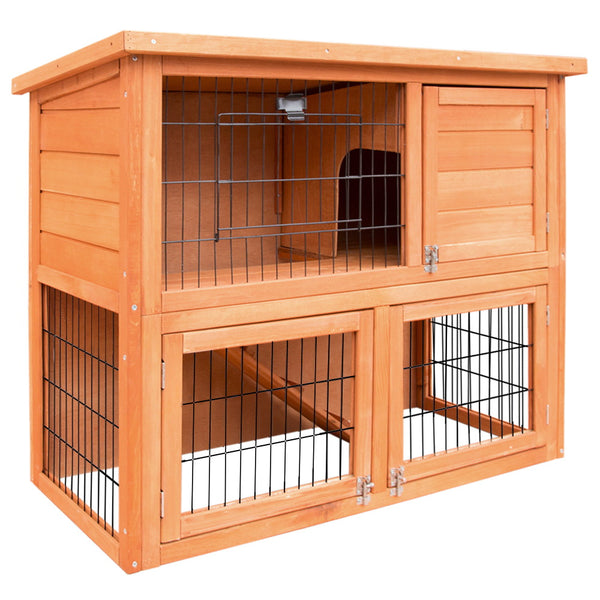 i.Pet 93cm Rabbit/Guinea Pig Hutch - Factory Direct Oz