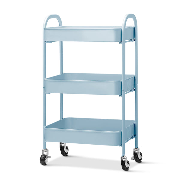 Artiss Kitchen Storage Cart - Blue - Factory Direct Oz