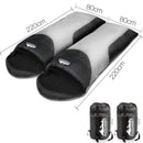 Twin Set Thermal Sleeping Bags - Black - Factory Direct Oz