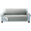 3 Seater Quilted Sofa Cover - Grey - Factory Direct Oz