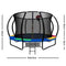 Everfit 12FT Trampoline With Basketball Hoop - Rainbow - Factory Direct Oz