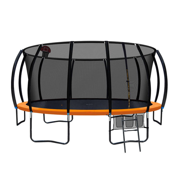 Everfit 16FT Trampoline With Basketball Hoop - Orange - Factory Direct Oz