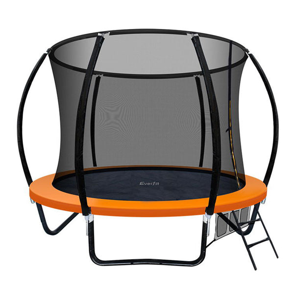 Everfit 8FT Trampoline - Orange - Factory Direct Oz