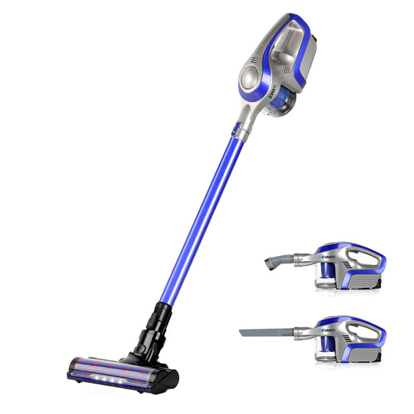 Devanti Cordless 150W Handstick Vacuum Cleaner - Grey and Blue - Factory Direct Oz