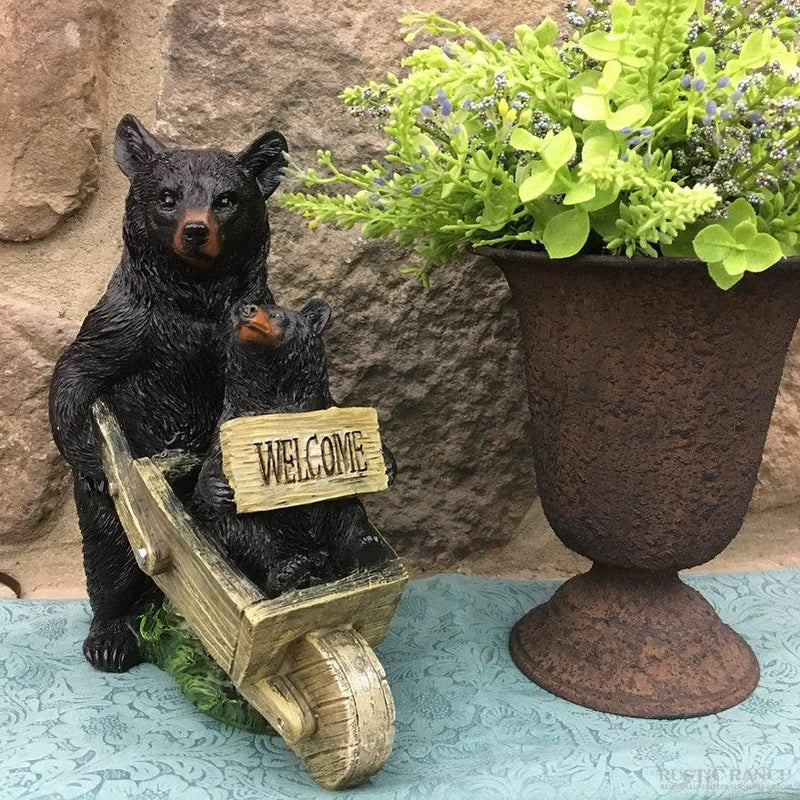 BEAR WITH PUSH CART-Rustic Ranch