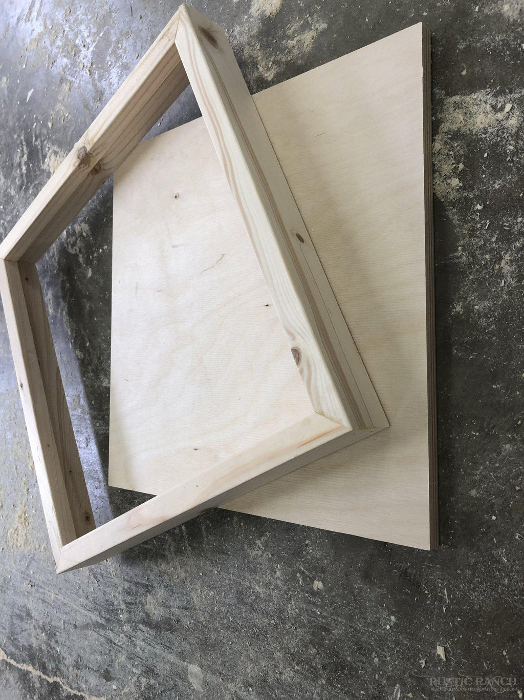 12X12 FRAMED SIGN BLANKS-Rustic Ranch