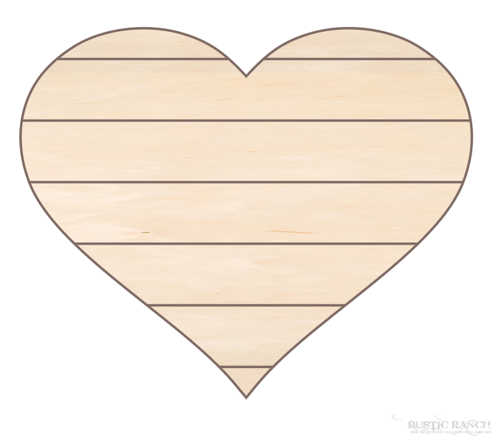 PALLET STYLE HEART-Rustic Ranch