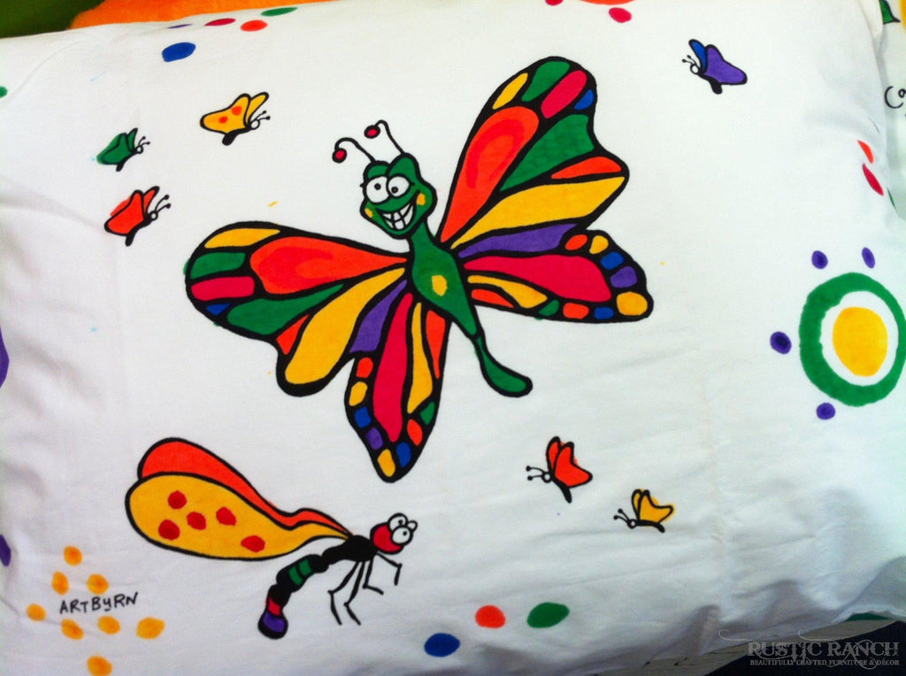 BUTTERFLY PAINTABLE PILLOWCASE-Rustic Ranch
