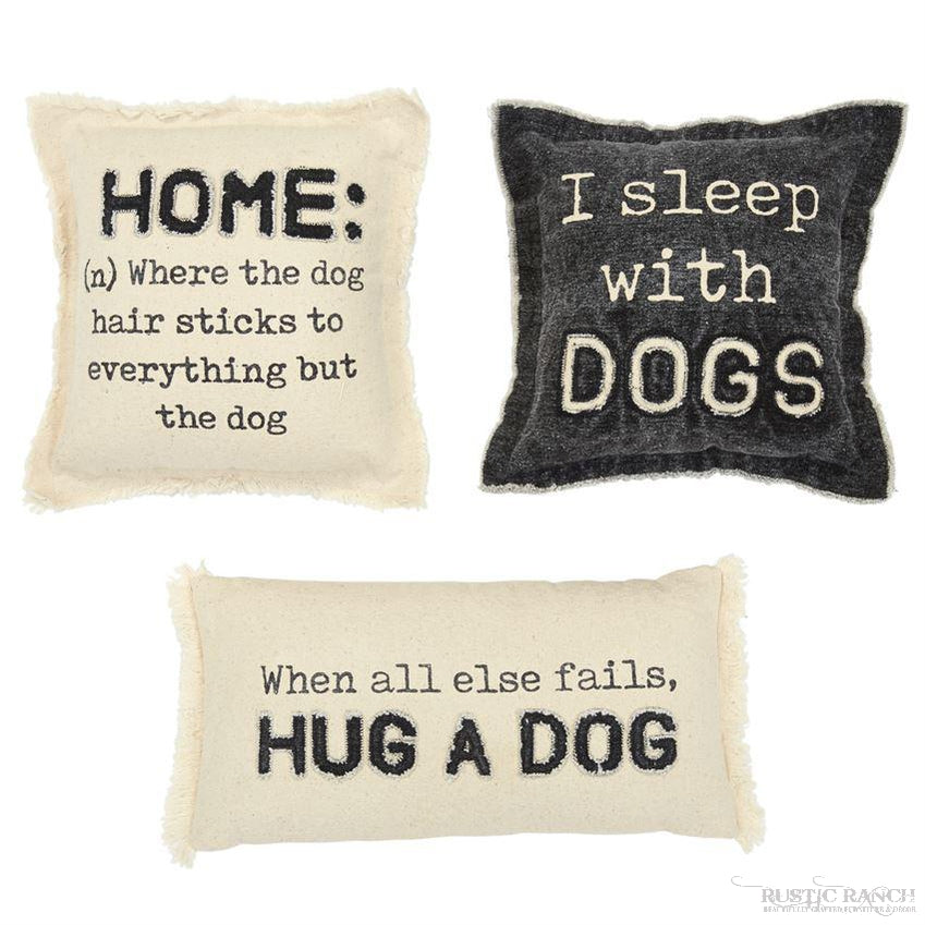 WASHED CANVAS DOG PILLOWS-Rustic Ranch