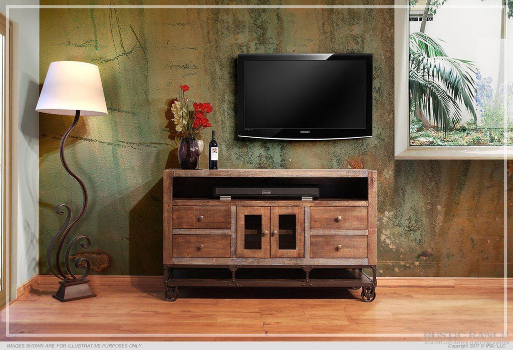 "URBAN GOLD 62"" TV STAND-Rustic Ranch"