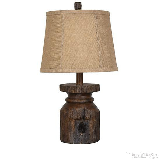 BARN POST TABLE LAMP-Rustic Ranch
