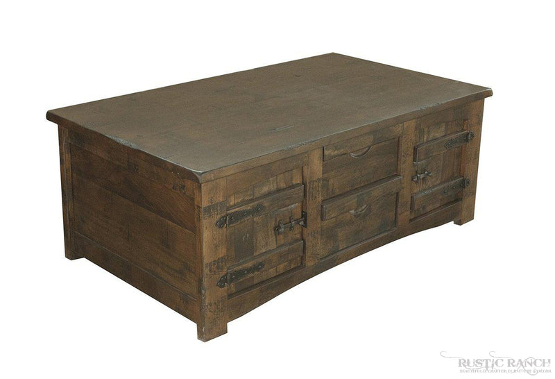 MEZCAL COFFEE TABLE WITH FOUR DRAWERS-Rustic Ranch