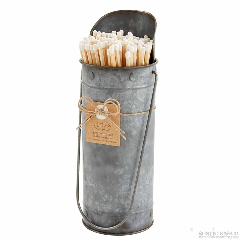 TIN MATCH HOLDER-Rustic Ranch