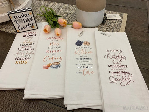 GRANDMA'S KITCHEN TEA TOWEL-Rustic Ranch
