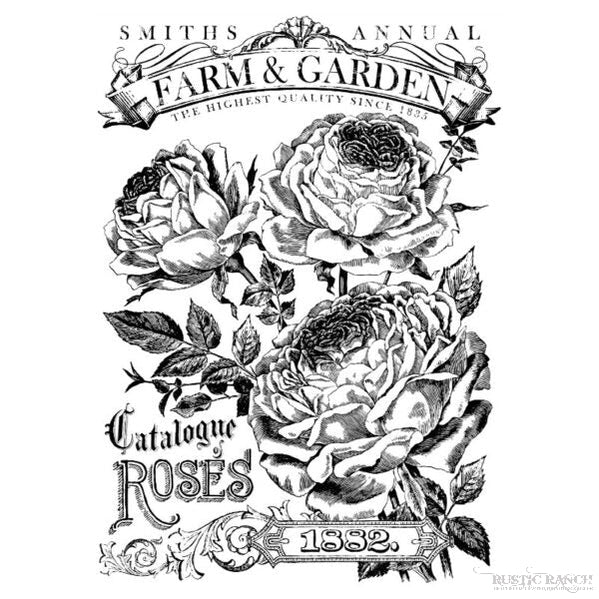 CATALOGUE OF ROSES PAINTED TRANSFER-Rustic Ranch