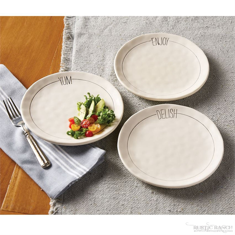 BISTRO SALAD PLATE - 3 ASSORTED-Rustic Ranch