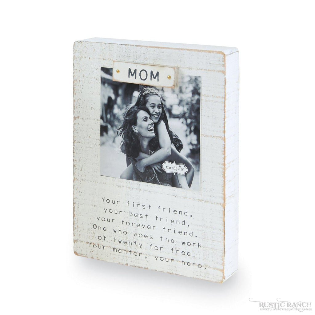 MOM MAGNET BLOCK FRAME-Rustic Ranch