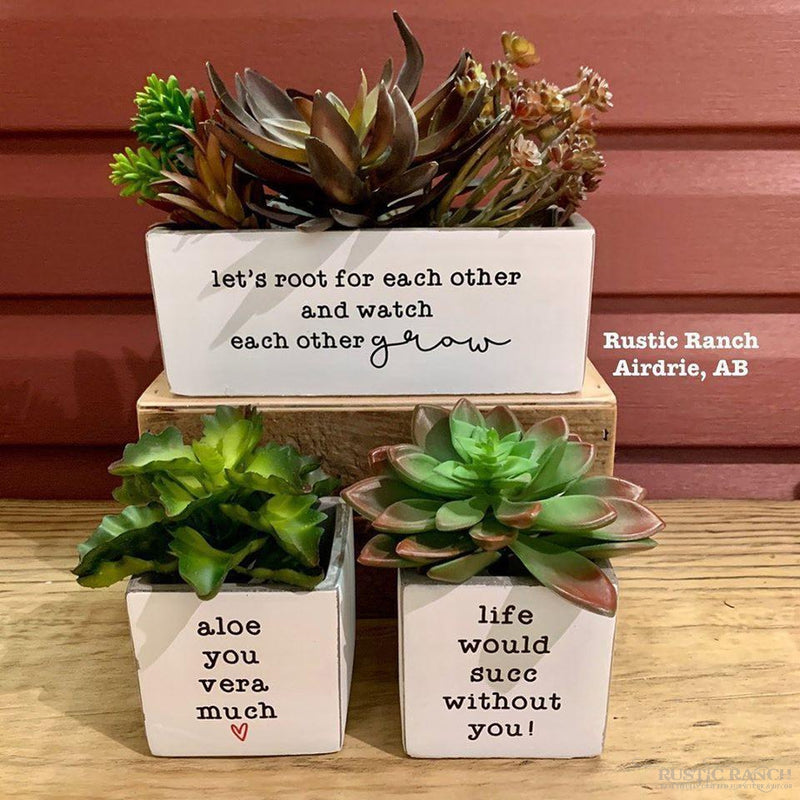 LIFE WOULD 3X3 PLANTER-Rustic Ranch