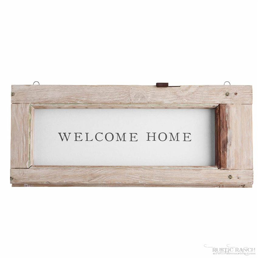 WEATHERED WELCOME HOME SIGN-Rustic Ranch