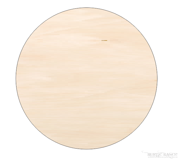 "18"" PLAIN WOODEN ROUND BLANKS-Rustic Ranch"