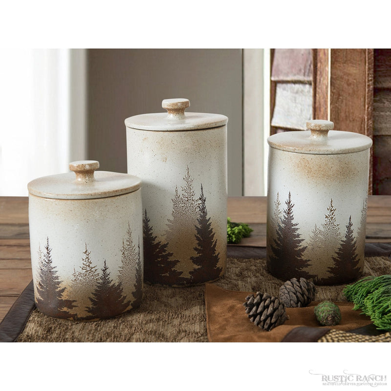 CLEARWATER PINES 3 PCE CANISTER SET-Rustic Ranch
