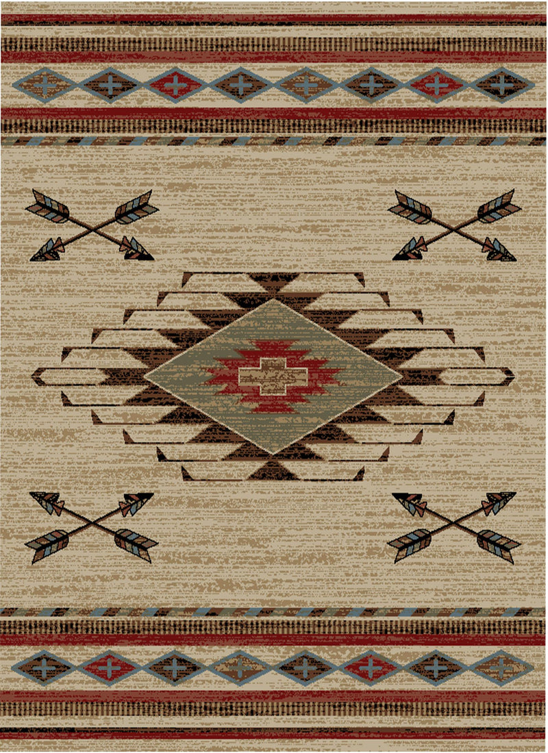 ANTIQUE ARROWHEAD 2X4 RUG-Rustic Ranch