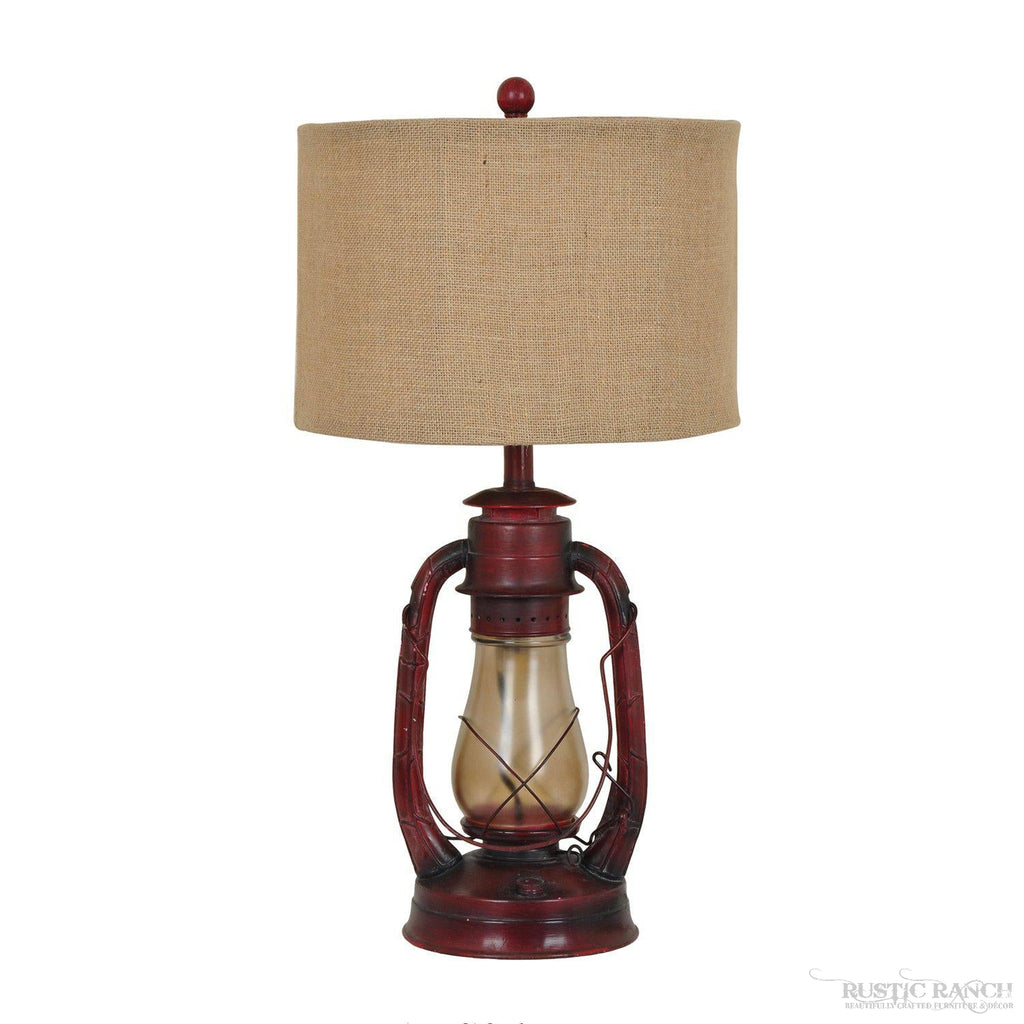 LAUREN LANTERN LAMP-Rustic Ranch